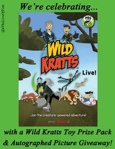 Wild Kratts Live Tour Giveaway! 12/16 US and Canada @4TheLoveOfFam : @WildKrattsOffic #WILDKRATTS Live Tour Giveaway Celebration!!