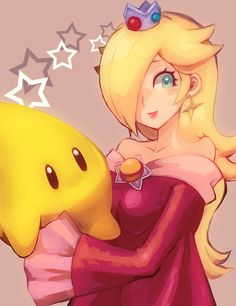 Princess Rosalina, Super Mario Galaxy series artwork by Poo.