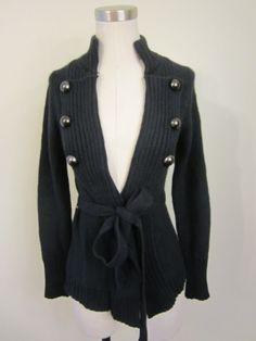 Armani Exchange Navy Blue Long Sleeve Cardigan $99.99
