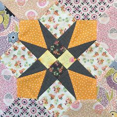 Sew Some Sunshine  Delilah Quilt - Block 7 Four-Patch Star #jenkingwelldesigns #sewsomesunshine #delilahquilt