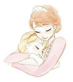 Elsa's mother was loving! And so was her father. They were not abusive! I love this picture--so heartwarming :)