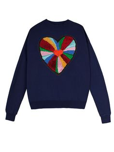 Heart Sweater Navy #lfmarkey