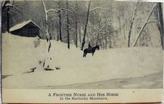 A Frontier Nurse and Her Horse In the  Mountains of  Kentucky by @nursingpins, via Flickr