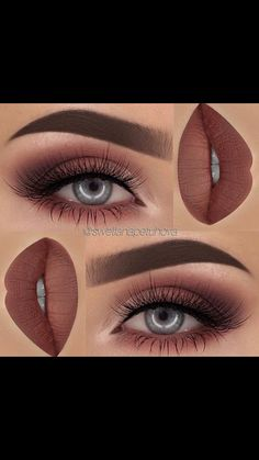 Soft maroon smokey eye