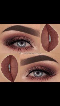 Soft maroon smokey eye