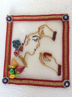 Thali Decoration Ideas, Handmade Decorations, Craft Items, Craft Gifts, Diwali Craft, Diwali Diy, Diy Home Crafts, Arts And Crafts, Marriage Gifts