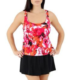 Maxine Spring Fling Scoop Faux-Skirtini One Piece