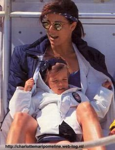 Princess Caroline of Monaco, with her daughter, Charlotte Casiraghi