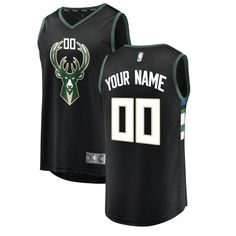 12f0617264c Represent your team's distinct on-court look with this Milwaukee Bucks Fast  Break Custom Replica jersey from Fanatics Branded. It boasts team graphics  and a ...