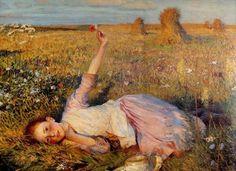 Girl in the field ~ (artist?)