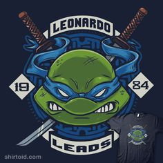 """Leonardo Leads"" by Crystal Fontan aka Bamboota.   Leonardo TMNT design"