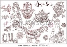 Woman Flower Vecteurs de stock et clip-Art vectoriel Hamsa, 7 Chakras, Tattoo Femeninos, Om Sign, Clip Art, Boho Designs, Creative Sketches, Pencil Illustration, Paint Markers
