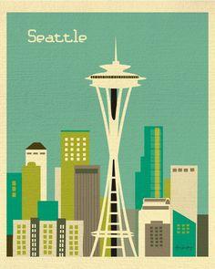 Seattle, Washington - Teal