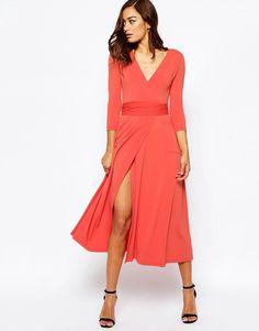 ASOS Wrap Maxi Dress in Jersey Crepe at asos.com 78e914e8b23