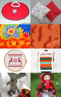 Fiery Reds by Gabbie on Etsy--Pinned with TreasuryPin.com Fiery Red, Unique Gifts, Pouch, Kids Rugs, Etsy Shop, Beautiful, Vintage, Home Decor, Decoration Home