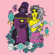 Darth & Cindy Lauper - 50x50cm - $750