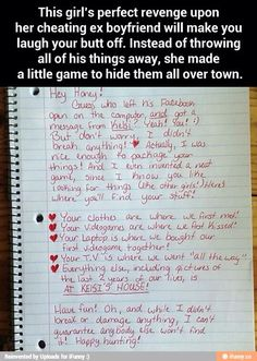 How to get revenge on a cheating boyfriend