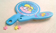 Vintage 1970's Little Twin Stars mirror and brush