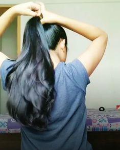 Long Hair Ponytail, Ponytail Updo, Ponytail Hairstyles, Long Black Hair, Very Long Hair, Cut My Hair, Hair Cuts, Long Hair Indian Girls, Beautiful Long Hair