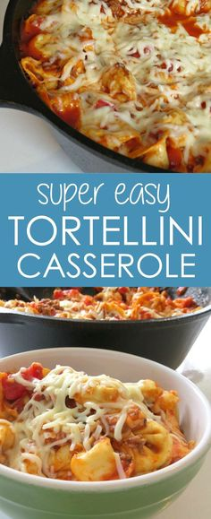 Baked Tortellini Casserole | One of my favorite pasta casserole recipes because there's cheese in the pasta itself! YUM.