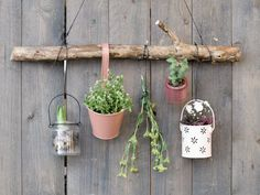 - Hang your plants on the wall - diy garden plant hanger -DIY - Hang your plants on the wall - diy garden plant hanger - Fall Wall Sconce Garden Yard Ideas, Diy Garden Projects, Diy Garden Decor, Garden Beds, Garden Plants, Flowers Garden, Balcony Flowers, Diy Garden Furniture, Balcony Gardening
