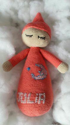 Muñeco amigurumi  dormilón. Ovillos de Lena