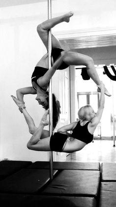 Pole dance doubles.