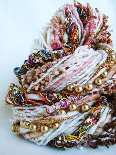 Hand Spun Art Yarn - BARKHA by Yarnmantra, via Flickr