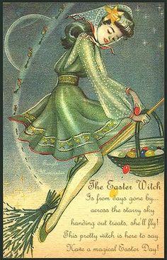 Vintage Easter Witch Poem