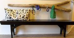 driftwood key holder- making this