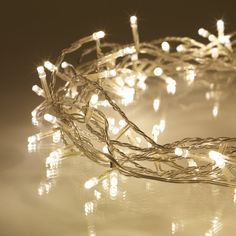 Warm White Fairy Lights With 100 LEDs On Clear Cable