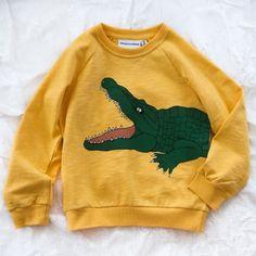 mini rodini crocodile sweat - yellow
