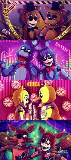 [FNAF] What if they meet each other? by YumeChii-NI on DeviantArt