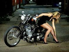 Motorcycle girl