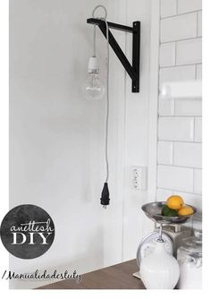 DIY light bulb inspiration for the craft room:)
