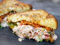 Lobster salad french toast sandwich