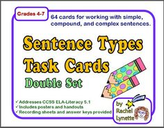 Simple, Compound, and Complex Sentence Posters - FREE!