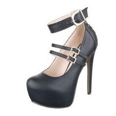 Fekete platform magassarkú cipő - Női ruha webáruház 1e935d0e11