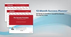 Make a plan for accomplishing all of your 2017 #NewYearsResolutions with my FREE 12-Month Success Planner!