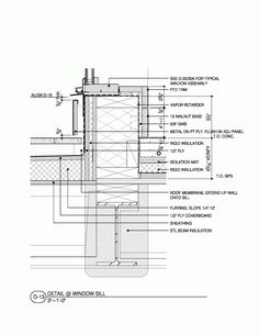 Image 20 of 23 from gallery of Golden View Residence / Workshop AD. Architecture Plan, Architecture Details, Roof Joist, Building Drawing, Working Drawing, Rigid Insulation, Architecture Drawing Sketchbooks, Structural Insulated Panels, Window Detail