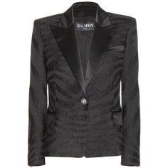 Balmain Zebra-print blazer mytheresa.com