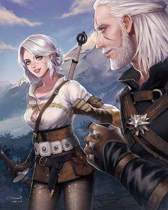Geralt of Rivia, Fanart - Zerochan Anime Image Board Ciri Witcher, The Witcher Geralt, Witcher Art, The Witcher Wild Hunt, The Witcher Game, Fantasy Warrior, Fantasy Art, The Witcher Books, Best Rpg