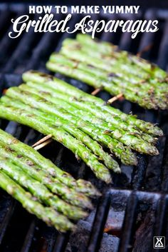 Asparagus How to Make Grilled Asparagus that's Sure to Please!How to Make Grilled Asparagus that's Sure to Please! Healthy Vegetables, Grilled Vegetables, Grilling Asparagus, How To Grill Asparagus, Baked Asparagus, Vegetables On The Grill, Zuchinni Recipes, Grilled Food, Snacks