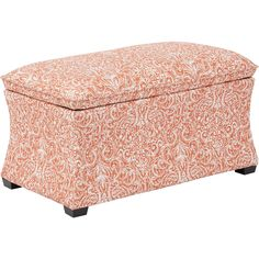Hourglass Storage Ottoman, Morgan Veranda Capri Fabric