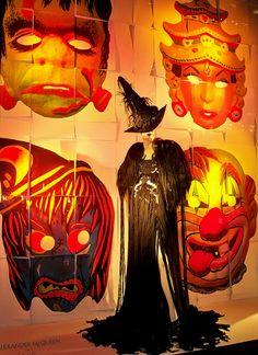 Halloween Masquerade:    A Bergdorf Goodman window display.