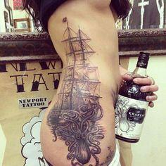 Amazing steampunk tattoo