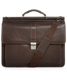 Kenneth Cole Reaction Leather Colombian Dowel Rod Laptop Brief
