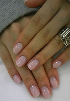Soft pink nails for vegas