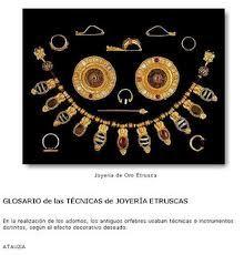 joyeria etrusca de oro