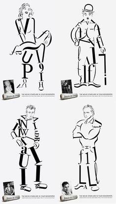 Dead Celebrity Typography Art